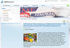 TÜV Rheinland Test Badespielzeug