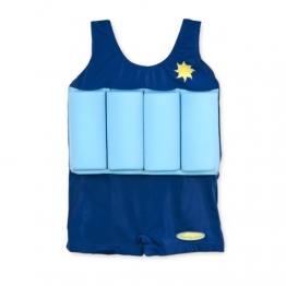 Badeanzug für Kinder mit Schwimmbojen blau Größe S - 1