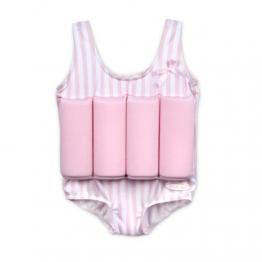 Badeanzug Schwimmhilfe für Kinder mit Schwimmbojen Rosa Größe S - 1
