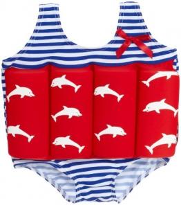 Beverly Kids Jungen UV Schutz Bojen-Badeanzug Costa Del Sol, rot/blau/weiß, 92, 20007 - 1
