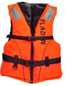 Fladen 50N Kinder Schwimmweste, klassischer Schnitt, Orange, 25-40kg - 1