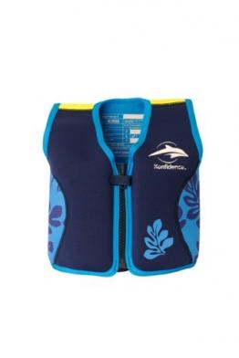 Kinder-Schwimmweste aus Neopren, navy/blue palm, Konfidence Jacket Größe: 12-16 kg (2-3 Jahre), Brustumfang 56 cm - 1