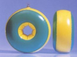 Kraulquappen 20cm für Anfänger grün/gelb - 1