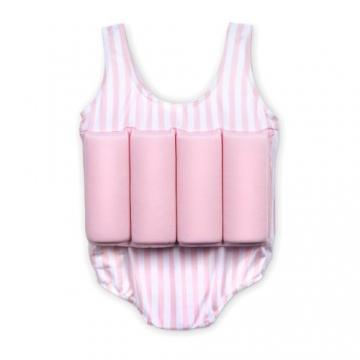 Badeanzug Schwimmhilfe für Kinder mit Schwimmbojen Rosa Größe S - 2