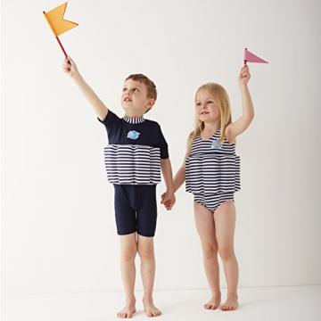 Splash About Kinder Float Anzug Badebekleidung anpassbaren Schwimmers, Marine Weiß, 1-2 Jahre, FSNS1 - 3